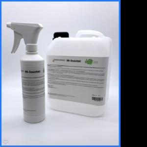 HN-Desinfekt (5-Ltr.-Kanister inkl. 500 ml - Sprühflasche)